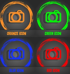 Photo camera sign icon digital photo camera symbol vector