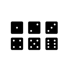 Dice set vector
