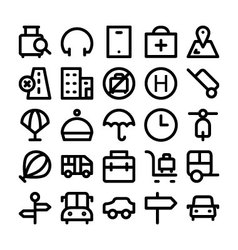 Travel icons 6 vector