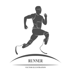 Athlete runner icon vector