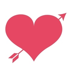 romantic heart with arrow isolated icon design vector image