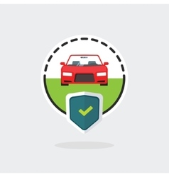 Car insurance logo automobile protected with vector