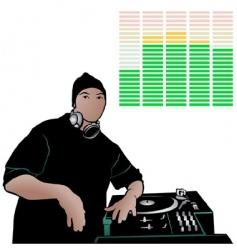 deejay vector image