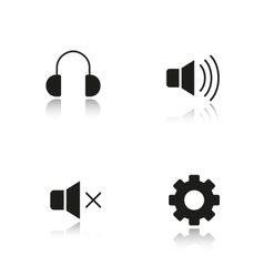Music player interface icons vector