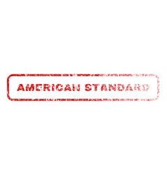American standard rubber stamp vector