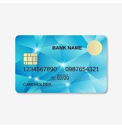 Bank card credit card discount card design vector
