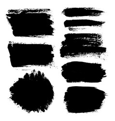 brush strokes set 14 vector image vector image