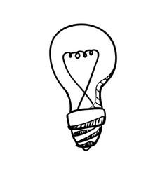 Bulb doodle draw vector