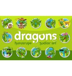 Dragons zodiac set vector image vector image