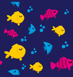 Fish pattern vector