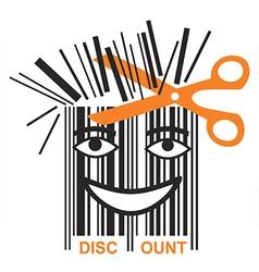 Funny BAR code discount vector image