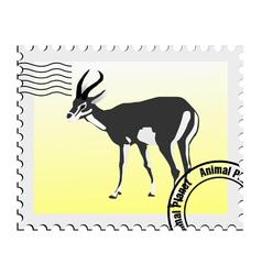 gazelle stamp vector image vector image