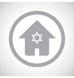 Grey jewish house sign icon vector