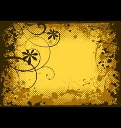 grunge splat border vector image