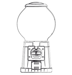 Gum ball machine vector