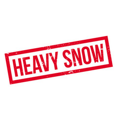 Heavy snow rubber stamp vector