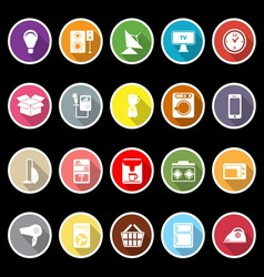 Home related icons with long shadow vector image vector image