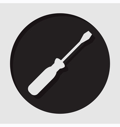 information icon - white screwdriver vector image
