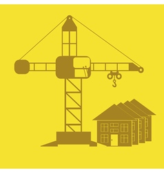 Monochrome icon set with crane construction vector