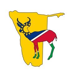 Namibia antelope vector