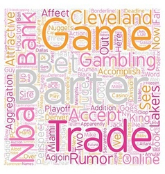 Nba barter deadline bank perspective text vector