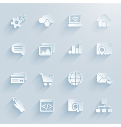 paper icons for infographics vector image vector image