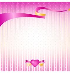 Pink silk premium ribbon vector image vector image
