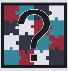 Puzzle with question mark vector