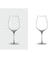realistic wine glasses vector image