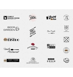 Restaurant badges logos and labels for any use vector image