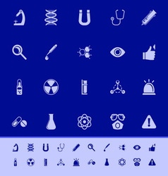 Science color icons on blue background vector image