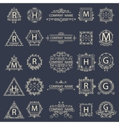 Set monogram company logos business sign vector image vector image