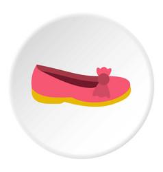 Shoe icon circle vector