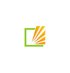 Square shine stripe logo vector