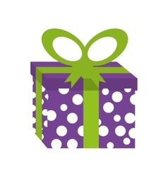 Giftbox birthday present isolated icon vector