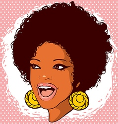 African-american woman with hair in the style of vector