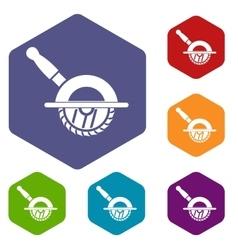 Circular saw icons set vector image