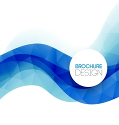 Abstract colorful blue line background vector image