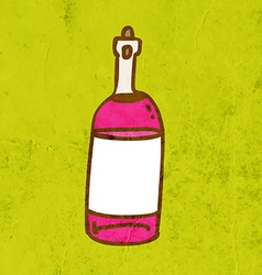 Bottle of Wine Cartoon vector image
