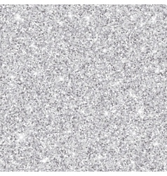 Silver glitter seamless pattern texture vector image