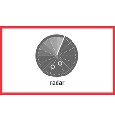 Radar contour outline icon vector