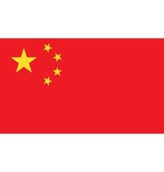 China flag image vector