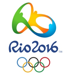 Olympic game rio official logo vector