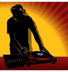 dj action vector image
