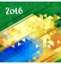 abstract geometric background in Brazil color vector image vector image
