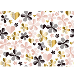 Abstract geometric floral seamless pattern vector