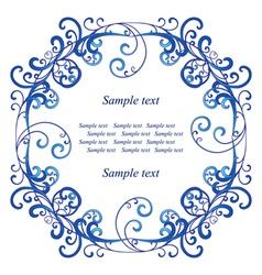Blue vignette vector image