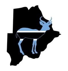 Botswana antelope vector