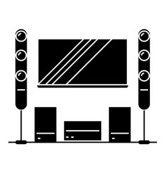 cinema room home theater icon vector image vector image
