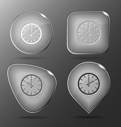 Clock glass buttons vector